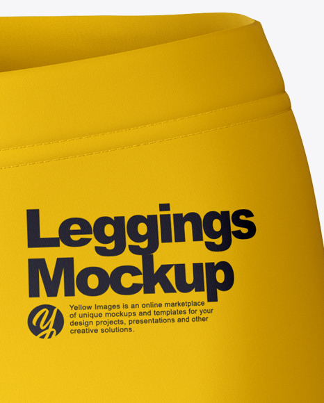Download Leggings Mockup Front View Yellow Images