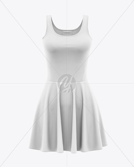 Skater Dress Mockup - Front View