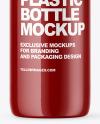 Glossy PET Bottle Mockup