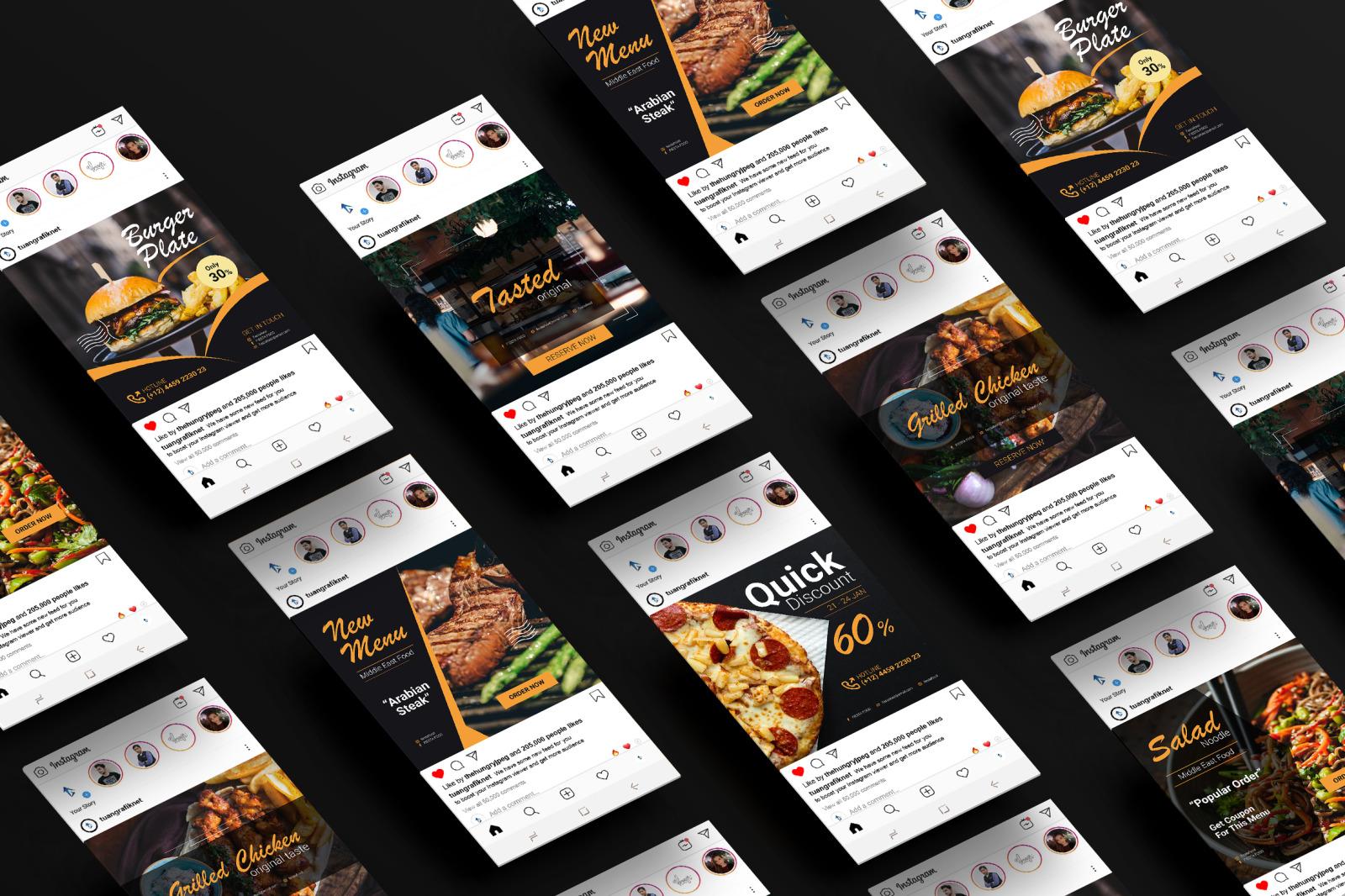 Food Instagram post Vol.1