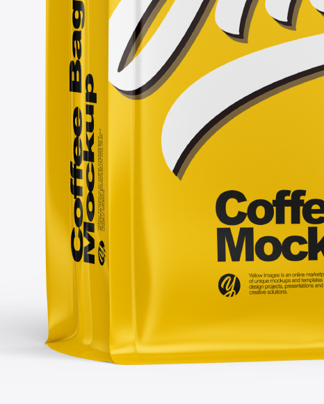 Matte Coffee Bag Mockup