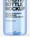 Blue PET Bottle Mockup