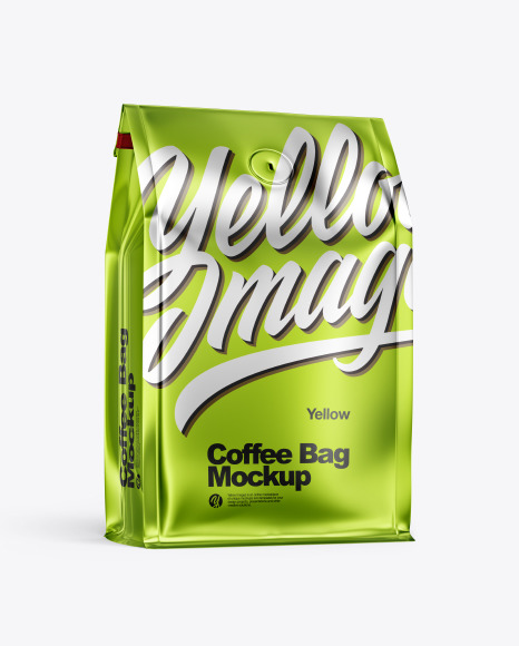Metallic Paper Coffee Bag Mockup