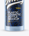 Clear Plastic Cosmetic Bottle Mockup
