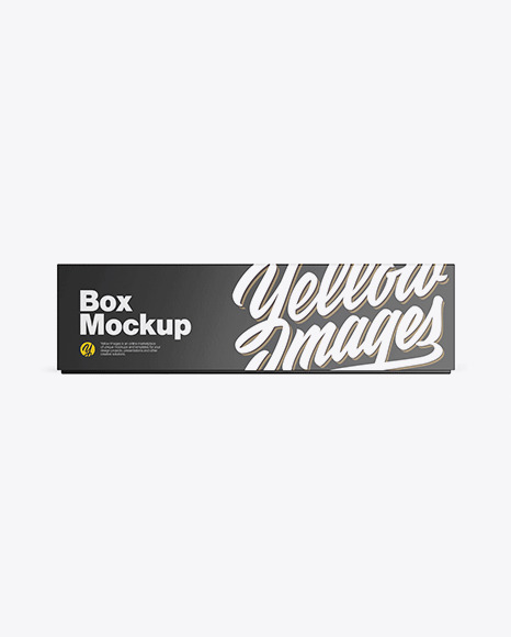 Glossy Paper Box Mockup