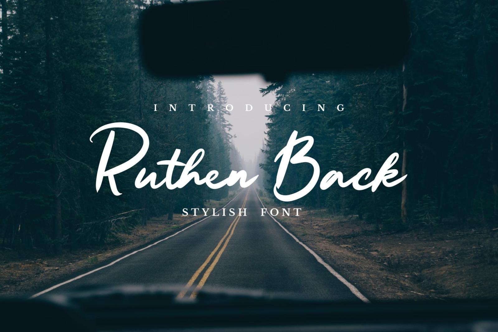 Ruthen Back - Stylish Font