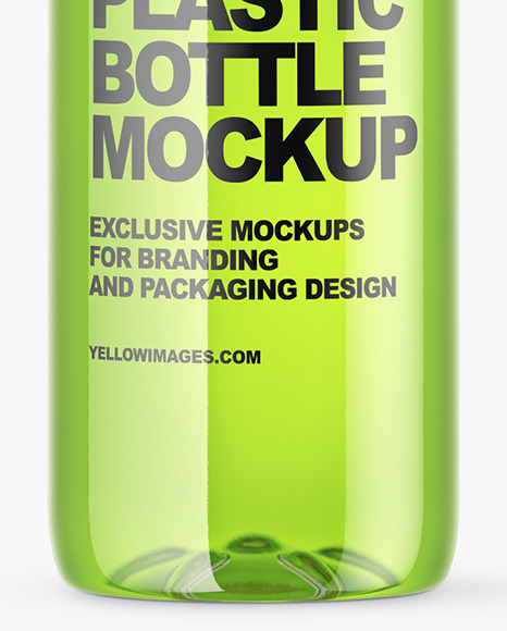 Clear PET Bottle Mockup