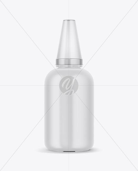 Matte Plastic Bottle Mockup