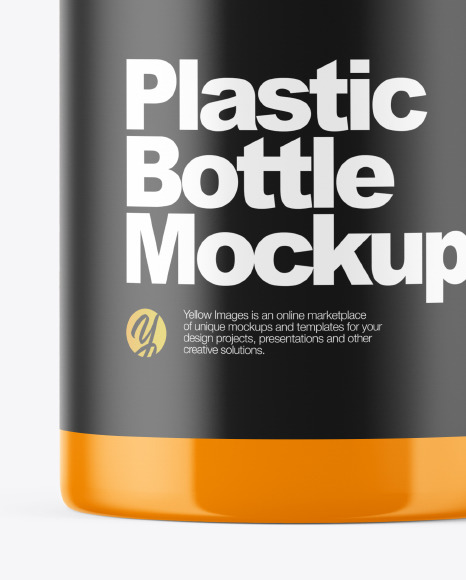 Glossy Plastic Bottle with Dispenser Mockup