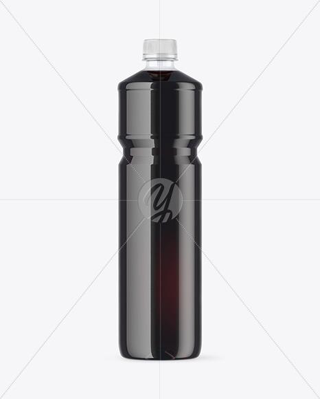 PET Bottle with Dark Drink Mockup