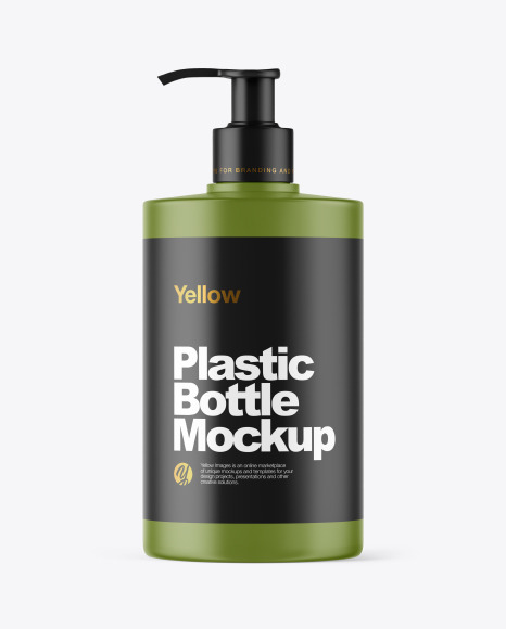 Matte Plastic Bottle with Dispenser Mockup