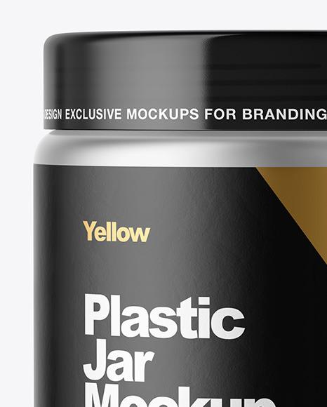 Metallized Plastic Jar Mockup