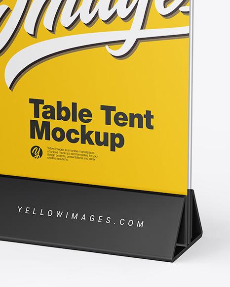 Glass Table Tent Mockup