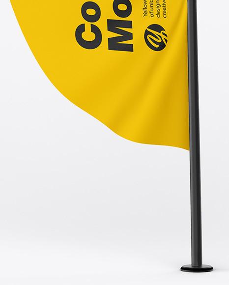 Matte Convex Flag Mockup