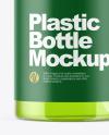 Clear Plastic Bottle with Dispenser Mockup
