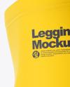 Long Leggings Mockup - Left Side View