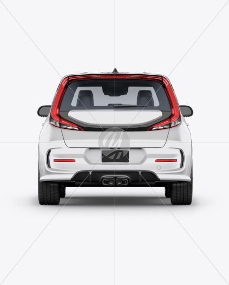 Compact Car Mockup - Back View - Yellowimages Mockups
