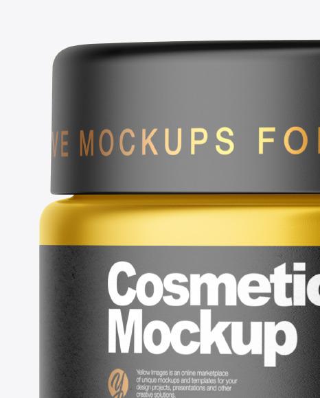Metallized Cosmetic Jar Mockup