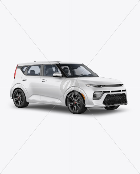 Compact Car Mockup - Half Side View - Yellowimages Mockups
