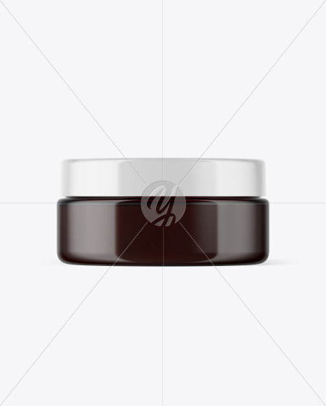 Dark Amber Cosmetic Jar Mockup
