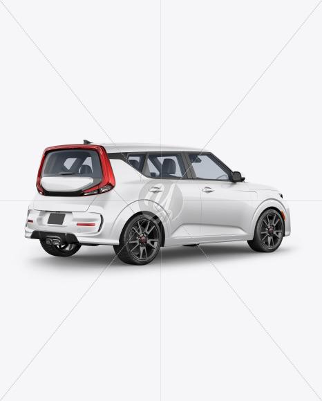 Compact Car Mockup - Back Half Side View - Yellowimages Mockups