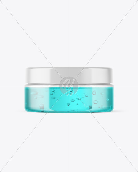 Clear Jar with Gel Mockup
