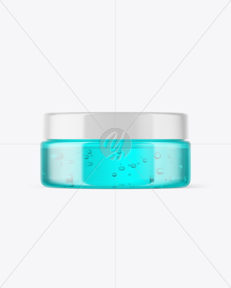 Plastic Jar with Gel Mockup