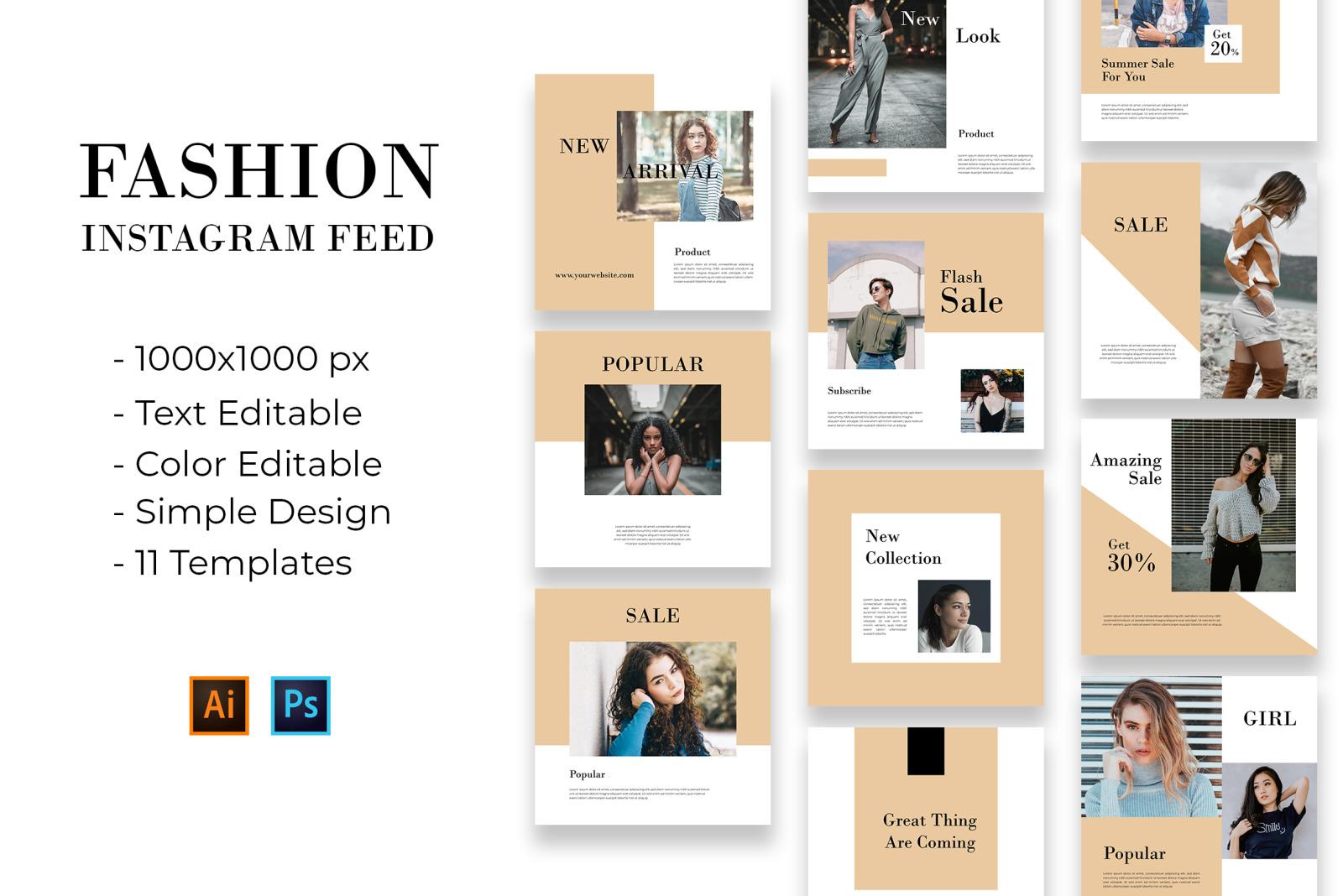 Fashion Intagram Feed Templates
