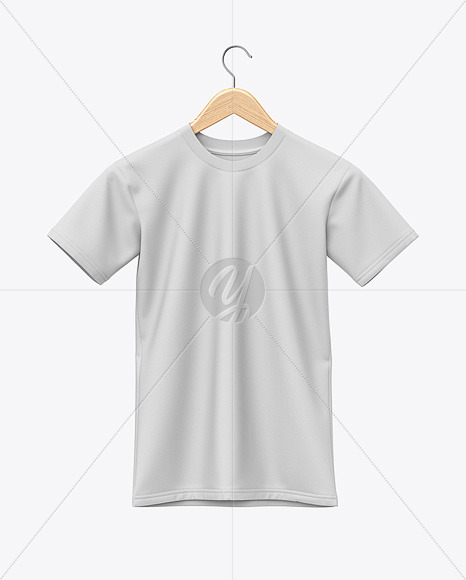 Download Hanging T Shirt Mockup Front View In Apparel Mockups On Yellow Images Object Mockups PSD Mockup Templates