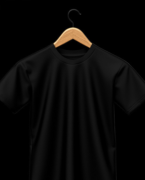Hanging T-Shirt Mockup - Front View