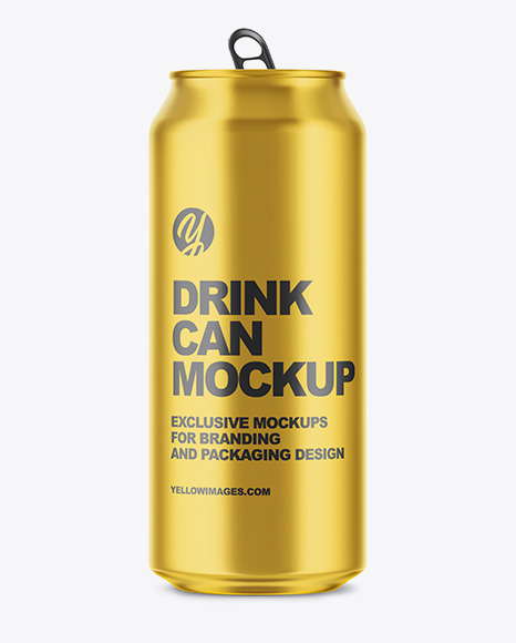 Download Matte Aluminium Drink Can Mockup PSD - Free PSD Mockup Templates
