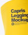 Capris Leggings Mockup - Left Side View