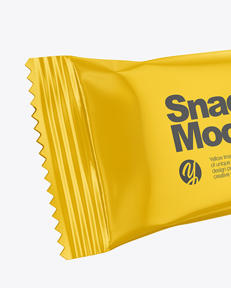 Two Glossy Snack Bars Mockup