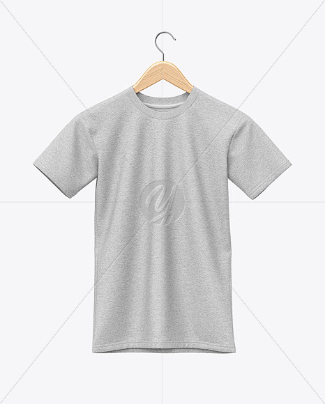 Heather Hanging T-Shirt Mockup - Front View