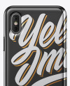 iPhone X Metallic Case Mockup