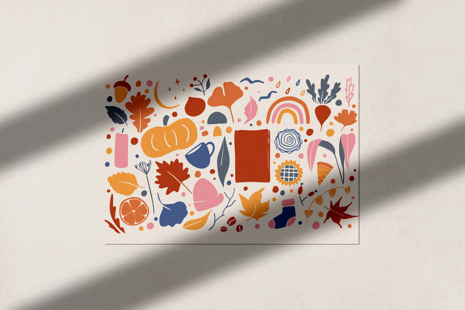Abstract Autumn Illustrations