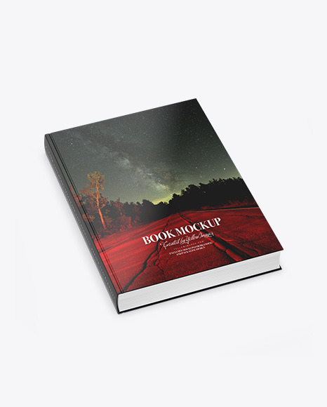 Download Book w Glossy Cover PSD Mockup