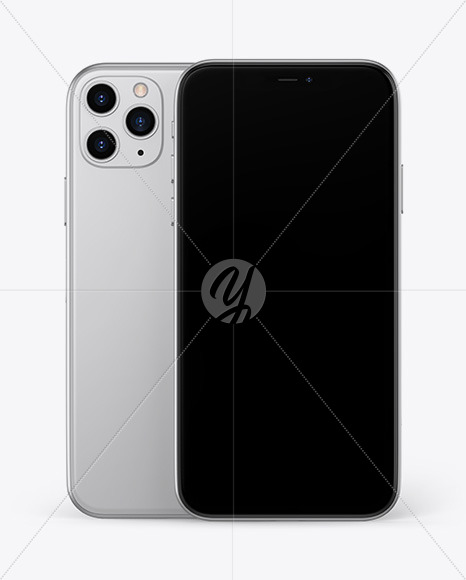 Two Apple iPhones 11 Pro Mockup