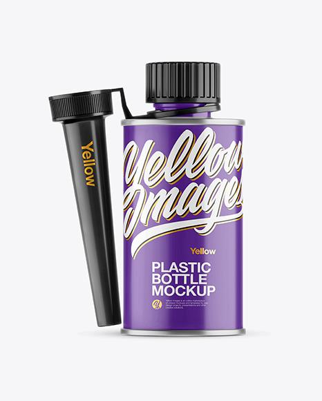 Download Glossy Bottle w Spout Cap PSD Mockup