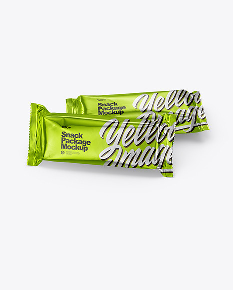 Download Two Metallic Snack Bars PSD Mockup