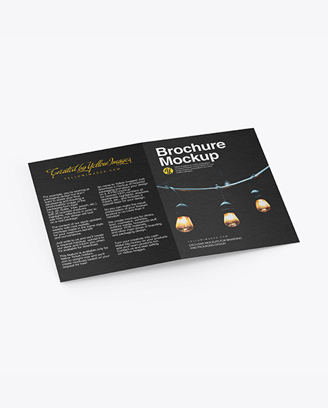 Download Textured Brochure PSD Mockup