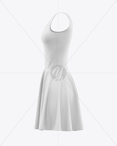 Download Skater Dress Mockup Front View Yellowimages