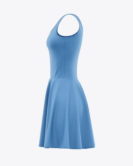 Download Skater Dress Side View PSD Mockup