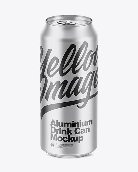 500ml Matte Aluminium Can Mockup