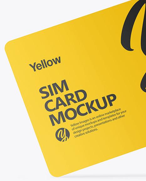 Sim Card Mockup