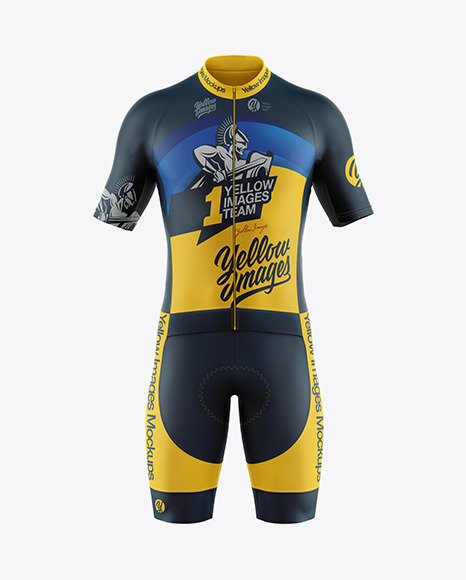 Download Mens Cycling Suit PSD Mockup