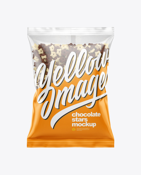 Download Bag With Duo Stars Cereal PSD Mockup