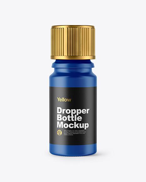 Download Matte Dropper Bottle PSD Mockup