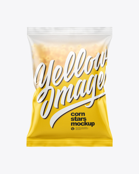 Download Frosted Bag With Honey Stars Cereal PSD Mockup