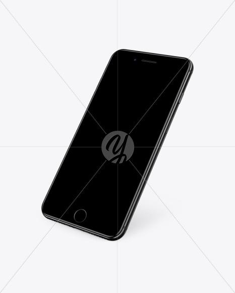 Jet Black Apple Iphone 7 Mockup